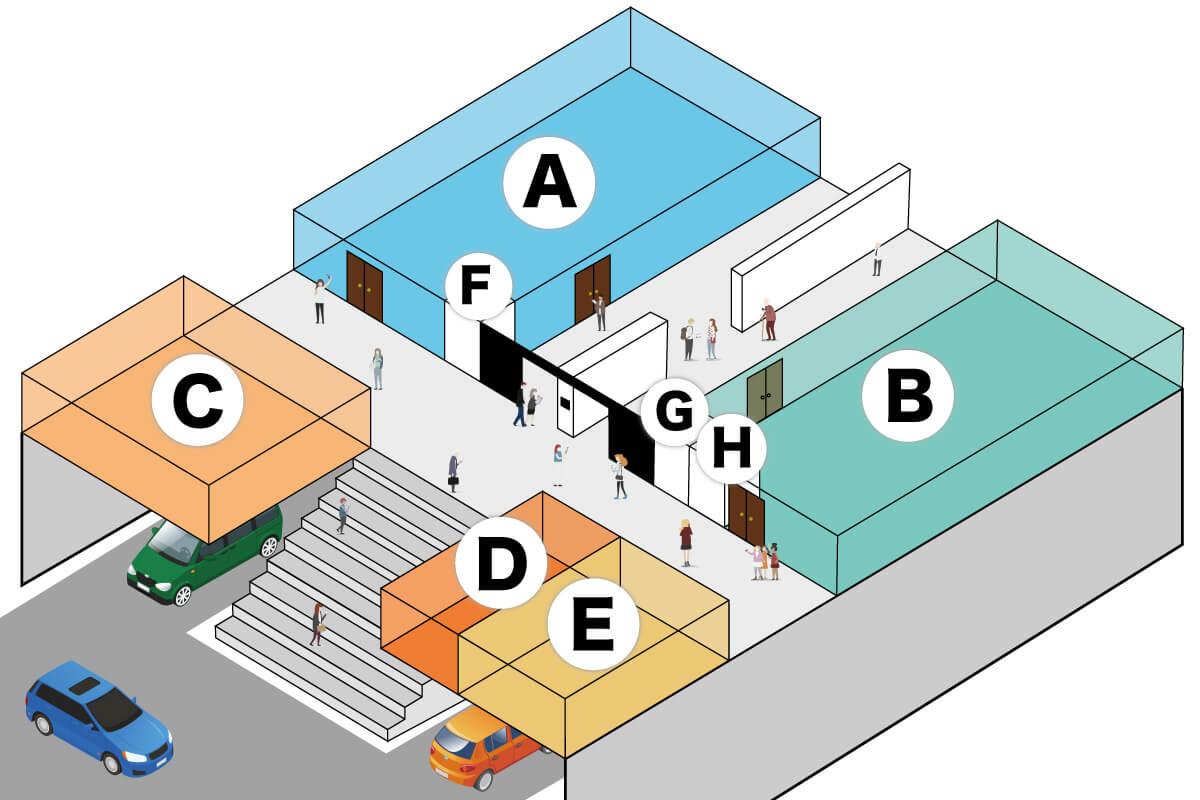 FOREST BLUE五所川原市のライブホールスタジオ・レストラン map 2f 2